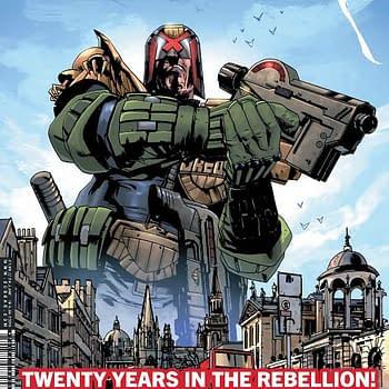 Al Ewing Jock and Dan Abnett in 20 Years of 2000AD at Rebellion