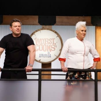 Judges Anne Burrell and Tyler Florence on Worst Cooks in America (Image: Food Network).