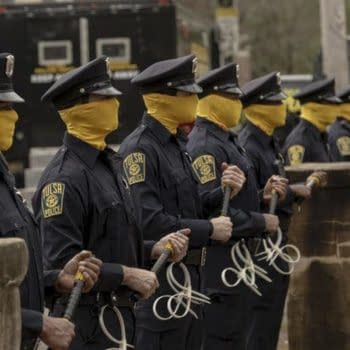 A look at the police force in Watchmen (Image: HBO)