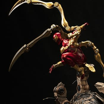 Spider-Man Iron Spider Costume Gets New Statue from XM Studios