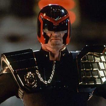 Sylvester Stallone as Judge Dredd (Image: Screen Cap)