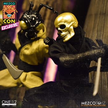 Mezco Toyz Secretly Releases Gold Skull Ninja One:12 Collective Figure