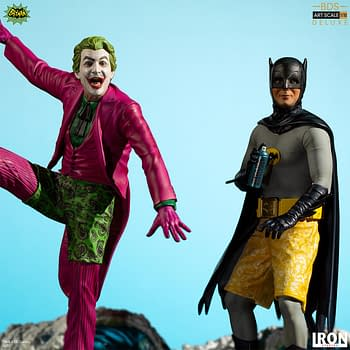 Its Surfs Up with Batman 66 Statues from Iron Studios