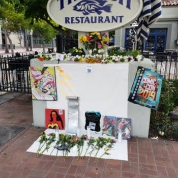 Shrine Built to San Diego Comic-Con Across From Convention Center.