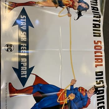 DC Comics Sends Social Distancing Posters to Comic Stores