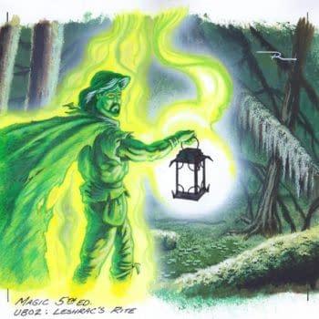Magic: The Gathering - Mike Raabe's Leshrac's Rite Art On Auction