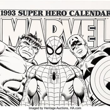 Awesome 1993 Marvel Calendar Art By Romita Sr. &#038 Sinnott At Auction