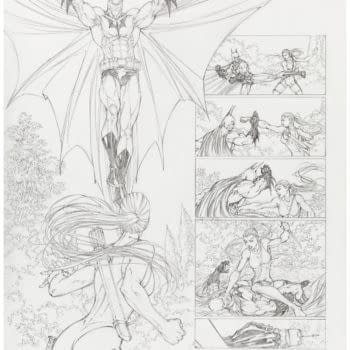 Michael Turner Superman/Batman Page Up For Auction At Heritage