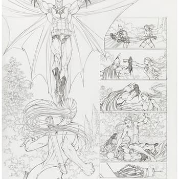 Censored Michael Turner Superman/Batman Page For Auction At Heritage