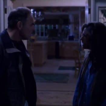 John Saxon as Lt. Donald Thompson and Heather Langenkamp as Nancy Thompson in A Nightmare on Elm Street (1984). Image courtesy of New Line Cinema