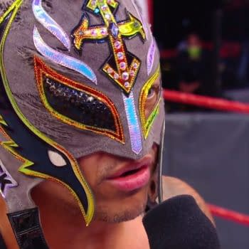 Rey Mysterio wants to rip out Seth Rollins's eyeball (Image: WWE).