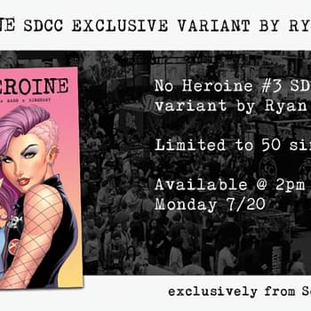 Exclusive SDCC Variants For No Heroine #3 On Sale Tomorrow