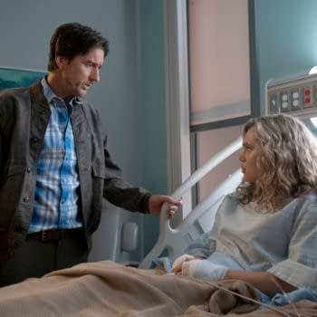 """Stargirl -- """"Shiv Part Two"""" -- Image Number: STG108c_0073r.jpg -- Pictured (l-R): Luke Wilson as Pat Dugan and Brec Bassinger as Courtney Whitmore -- Photo: Mark Hill/The CW -- © 2020 The CW Network, LLC. All Rights Reserved."""