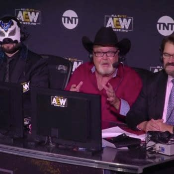 Excalibur, Jim Ross, and Tony Schiavone are the commentary team for AEW.
