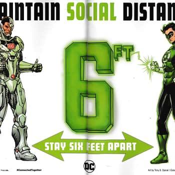 Green Lantern and Cyborg Make Social Distancing Work Finally
