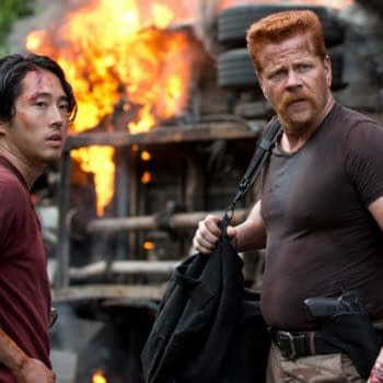 Glenn and Abraham from The Walking Dead (Image: AMC).