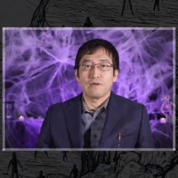 A screencap of the interview with Junji Ito hosted by VIZ Media, featuring the master of horror himself.