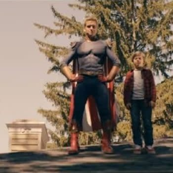 A look at Homelander and son from The Boys season 2 (Image: Amazon Prime)