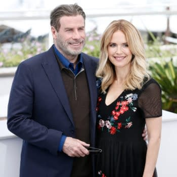 CANNES, FRANCE - MAY 15: John Travolta and Kelly Preston attend the photo-call of the movie 'Gotti' during the 71st Cannes Film Festival on May 15, 2018 in Cannes, France. (Andrea Raffin / Shutterstock.com)