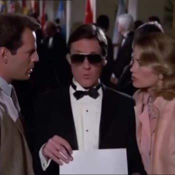 """A scene from Moonlighting """"The Morder's in the Mail"""" (Image: ABC)"""