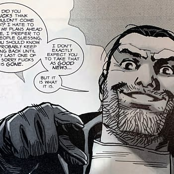 Negan Lives in Todays The Walking Dead Comic About The New Normal