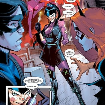 Its Punchline Vs Batgirl in Nightwing #72