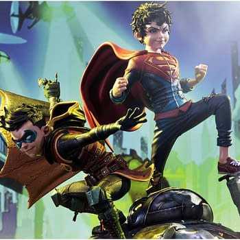 DC Comics Super Sons Statue Teases By Prime 1 Studio