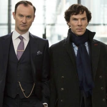 A look at Mycroft and Sherlock (Image: BBC)