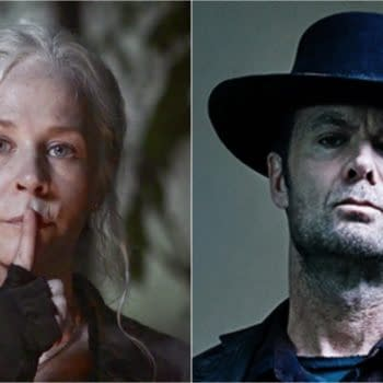 Carol from The Walking Dead and Dorie from Fear the Walking Dead (Images: AMC Networks).