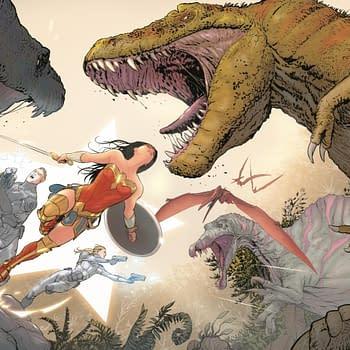Diana Vs Dinosaurs in Mariko Tamaki and Mikel Janins Wonder Woman