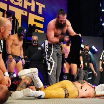 Cody Rhodes' lifeless body after being murdered by Brodie Lee on AEW Saturday Night Dynamite (Credit: AEW)