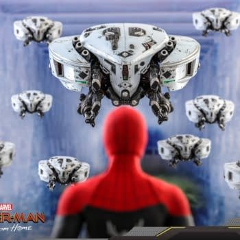 Spider-Man Hot Toys Gets Far From Home Mysterio's Drones Accessory