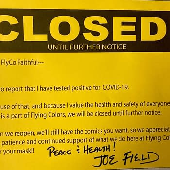 Joe Field Closes Flying Colors Comics For a Little After COVID Test