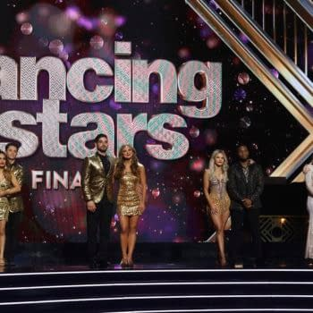 """DANCING WITH THE STARS - """"Finale"""" - It all comes down to this as four celebrity and pro-dancer couples return to the ballroom to compete and win the Mirrorball trophy on the 11th and final week of the 2019 season of """"Dancing with the Stars,"""" live, MONDAY, NOV. 25 (8:00-10:00 p.m. EST), on ABC. (ABC/Kelsey McNeal) ALLY BROOKE, SASHA FARBER, ALAN BERSTEN, HANNAH BROWN, WITNEY CARSON, KEL MITCHELL, LAUREN ALAINA, GLEB SAVCHENKO"""