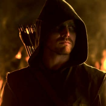 """Arrow -- """"Burned"""" -- Image AR110b_7476b -- Pictured: Stephen Amell as Arrow -- Photo: Jack Rowand/The CW -- ©2012 The CW Network. All Rights Reserved"""