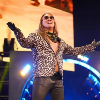 Chris Jericho is how AEW is feeling after Dynamite did well in the ratings two weeks in a row on different nights. (Image: AEW)