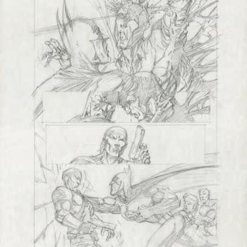 Check Out This Bernie Wrightson Batman/Aliens #1 Art On Comic Connect