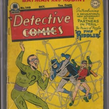 The Batman Villain The Riddler's First Appearance Auction Ending Today