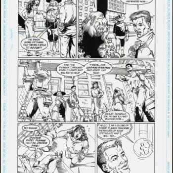 Black Adam Future Star Dr. Fate Comic Art Up For Auction