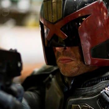 Karl Urban in Judge Dredd (Image: Rebellion)