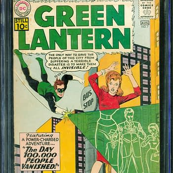 Green Lantern Enemy Sinestros First Appearance On Auction