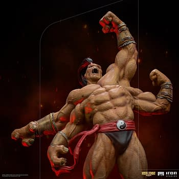 Mortal Kombat Goro Wants His Fatality With Iron Studios