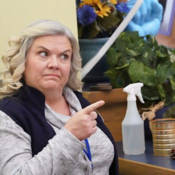 "A.P. BIO -- ""Tiny Problems"" Episode 301 -- Pictured: Paula Pell as Helen -- (Photo by: Evans Vestal Ward/Peacock)"
