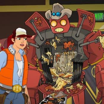 A look at Dallas and Robo, Episode 2 (Image: SYFY)