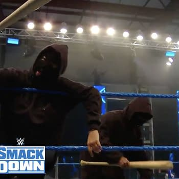 "Retribution, the new ""non-political"" Antifa-like stable, debuts on WWE Smackdown"