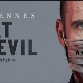 "Ralph Fiennes in ""Beat the Devil"" (Image: Bridge Theatre- screencap)"