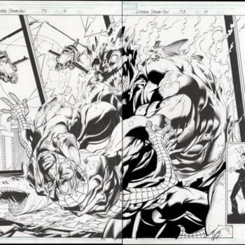 Mark Bagley Ultimate Spider-Man Double Spread Auction On Comic Connect