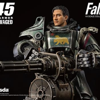 Fallout T-45 NCR Salvaged Power Armor Gets Full Threezero Reveal