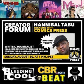 "Fanbase Press Hosts Hannibal Tabu in ""Engaging With Comics Press"""