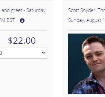 $22 To Speak To Scott Snyder Tom King or Greg Capullo For 3 Minutes